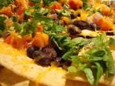 black bean nachos with chipotle tabasco