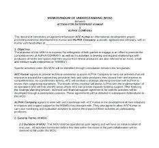 Memorandum Of Understanding Template Beauteous Sample Memorandum Of Understanding Template Free Templates Format