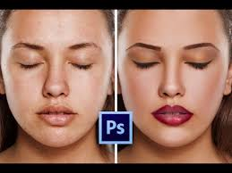 retouching skin make makeup easily
