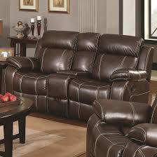 Reclining Living Room Set Myleene Collection 603021 Brown Leather Reclining Sofa Loveseat Set