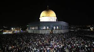 Indeed, he is the hearing, the. 400 000 Muslims Mark Laylat Al Qadr At Al Aqsa Mosque