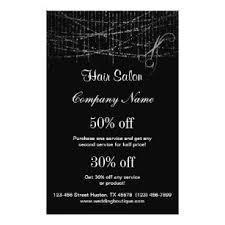 hair salon business personalized flyer