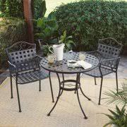 iron patio furniture. Belham Living Capri Wrought Iron Bistro Set By Woodard Iron Patio Furniture