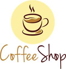 coffee shop logos. Modren Shop Coffee Shop Logo Vector With Logos