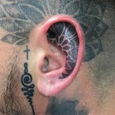 Wicked Inner Ear Mandala Type Tattoo Fashionizm