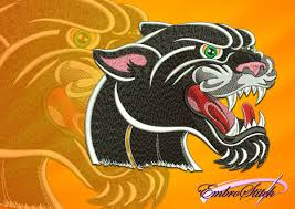 Panther Paw Embroidery Design Roaring Panther Embroidery Design 3 Sizes