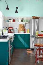 turquoise kitchen cabinets diy lovely painted kitchen cabinets a rainbow of possibilities furnishmyway blog