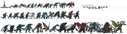 Godzilla Evolution Chart Kaiju Size Chart Updated Pixelsham