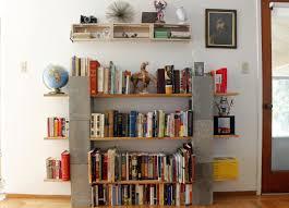 Full Size of Shelving:block Wall Shelves Wood And Cinder Block Bookshelves  Idea Stunning Block ...