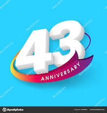 Anniversary Template Anniversary Emblems 43 Anniversary Template Design Stock Vector