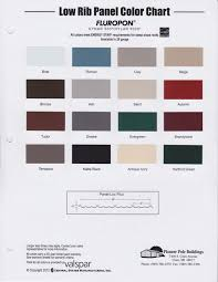 Central States Metal Color Chart Pioneer Pole Buildings Pioneer Color Charts
