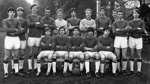 eamonn front left pictured with the manchester boys team