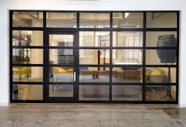 room full ideas view door aluminum metal overhead insulation interior into sectional double glass with front