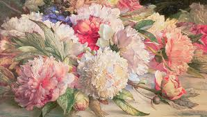 peony painting peonies by william jabez muckley