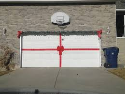 make your garage door a giant present at time