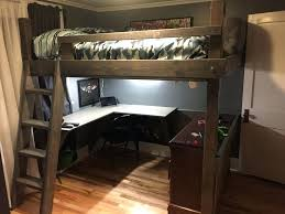 Beautiful Bunk Bed With Desk Underneath L Shaped Office Uk Awesome
