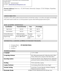 Resume Formats Word Best Resume Format Word Latest For Experienced Inownload Bestocument