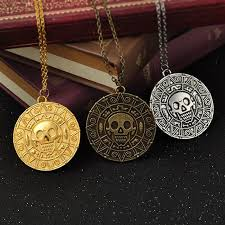 vintage bronze gold coin pirate charms aztec coin necklace men s pendant necklaces for lady xmas gift fashion jewelry gga1090