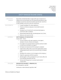 Safety Manager Resume Suiteblounge Com