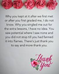 Teacher Message Thank You Teacher Messages Quotes From Students And