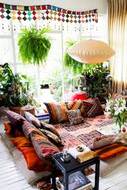 low height living room furniture. image source boho eclectic cozy nook with low height furniture and colorful accents| nonagon.style living room h