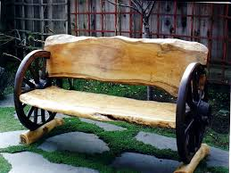 wagon wheel bench for only 2