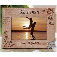 because of you personalised wooden photo frame