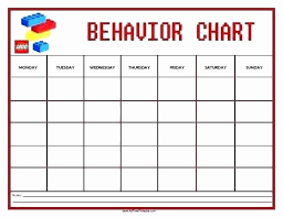 Kindergarten Behavior Chart Template Www Bedowntowndaytona Com