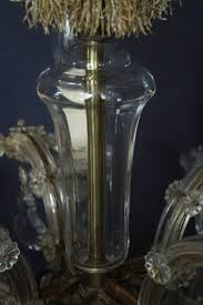 Vintage Kronleuchter Mit üppigem Glasdekor Und Behang