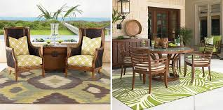 outdoor rugs have the ability to add comfort and color to any outdoor setting whether it s a patio seating space or screened in porch dining area