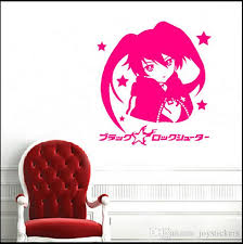 Small Picture Decal Removable Home Decor Vinyl Decal Cartoon Black Rock Shooter