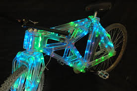 plastic lighting. contemporary plastic introduction tron bike clear plastic bike with led edge lighting inside j