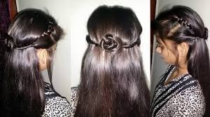 Hair Style Simple Simple Hairstyle How To Do Simple Party Hairstyle Youtube 6240 by wearticles.com