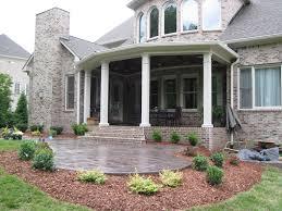 covered stamped concrete patio. Raised Patio With Covered Porch And Stamped Concrete Covered Stamped Concrete Patio I