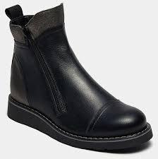 Ботинки <b>BROS</b>-<b>D</b> (цвет черный, натуральная кожа,спилок ...