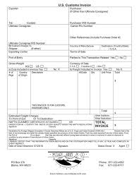 Canada Customs Invoice Template Canada Customs Invoice Template Best