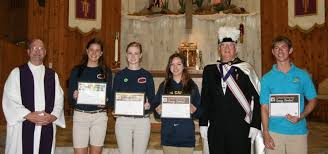 jchs students participate in knights of columbus essay contest jennifer trefelner submitted to yournews congratulations to from left mackenzie o loughlin lauren kenney hunter molloy and ryan boehning