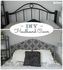 smart idea how to make a headboard cover remodelaholic easy no sew slipcover tutorial metal sypsie designs on com headboardweek covered in fabric