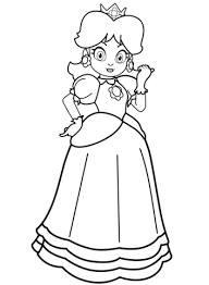 Small Picture Princess Daisy coloring page Free Printable Coloring Pages