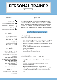 Exceptional Resume Examples Personal Trainer Resume Sample And Writing Guide Rg
