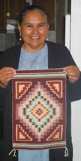 Blue navajo rugs Authentic Jennie Slick Shows Finished Rug Navajo Rugs For Sale Company How To Identify Navajo Textiles Weaving In Beauty
