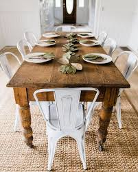 rustic dining table diy. farm table and white chairs - \u003c3 what fun this would be to decorate all rustic dining diy