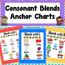 Consonant Blends Anchor Chart Consonant Blends Anchor Charts