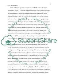Critical Analysis Of Nursing Scenario Essay Example Topics