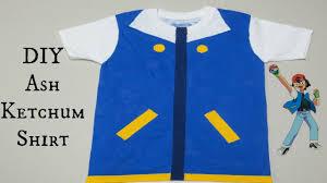 diy ash ketchum shirt no sewing needed