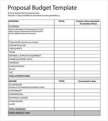 simple budget proposal template budget proposal budget proposal sample for event