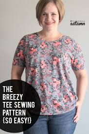 this free t shirt sewing pattern is super easy how to sew a fortable