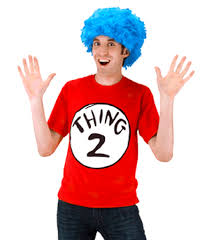 thing 1 or thing 2 costume with wig sku 405210