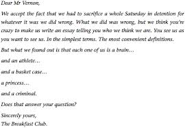 brian s essay from the breakfast club