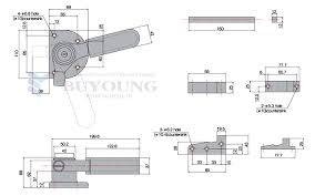 cad drawing for soundproof door handle